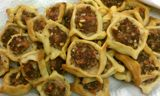 Sfeeha Square flat Meat Pies Recipe - Find more Mediterranean recipes at http://www.dedemed.com