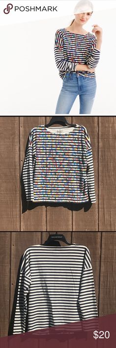 J Crew Michael de Feo painted Top Size Small Beautiful Michael de Feo Painted top mixes street art with fashion. Size small. Good condition! J. Crew Tops