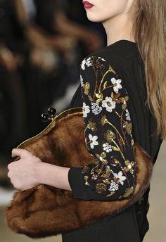 Miu Miu Fall 2011. The purse kinda scares me, but I love the details on the sweater!