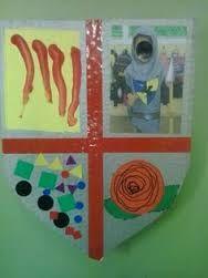 Resultat d'imatges de manualitats escuts Rose, Crafts, Decor, Art, Castles, Medieval Shields, Saint George, Activities, Short Stories