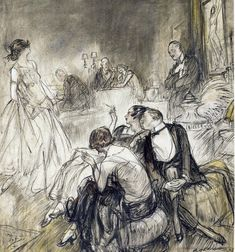 Henry Patrick Raleigh, magazine story illustration, 1923.
