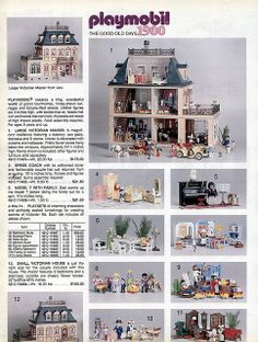 Playmobil Victorian House, this was my favourite thing as a child!