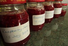 We were concerned that the fruit would not ripen on the #raspberry canes due to the heatwave, but we have been saving water for them to drink and today Mrs Z, who has assumed the role of head jam maker, made a few jars of lovely raspberry #jam, which I call the champagne of jams