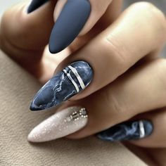 Colored Acrylic Nails, Best Acrylic Nails, Acrylic Nail Designs, Nail Art Designs, Stylish Nails, Trendy Nails, Nagellack Trends, Mirror Nails, Dipped Nails