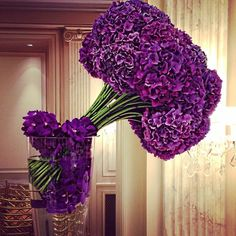 Beauty Will Save The World Hotel Flowers, Luxury Flowers, Elegant Flowers, Purple Flowers, Beautiful Flowers, Purple Flower Arrangements, Flower Arrangement Designs, Flower Designs, Deco Floral