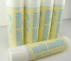 Vanilla Smoothie Lip Balm Tube by SummerScentSations on Etsy, $1.35