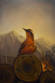 Fire Walk With Me by Martin Wittfooth - looking at this makes the theme song play in my head:) #twinpeaks