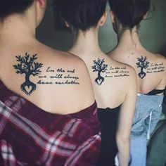 75 Superb Sister Tattoos - Matching Ideas, Colors, Symbols Check more at http://tattoo-journal.com/30-adorable-sister-tattoos/