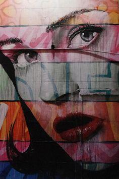 Beautfiful woman's face street art