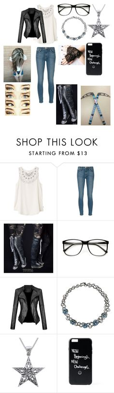 """""""My Soul Eater OC"""" by mimi-minecrafter on Polyvore featuring RVCA, Frame Denim, Converse, ZeroUV and Carolina Glamour Collection"""