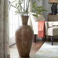 18 DIY Vase Flower Ideas For Beautiful Living Room Decoration Ideas – Decor & Gardening Ideas Living Room Flooring, Living Room Decor, Large Floor Vase, Floor Vases, Glass Floor, White Bedroom Design, Big Vases, Large Vases, Tall Vases