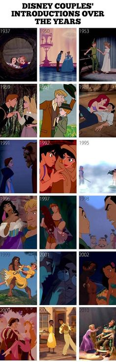 How couples meet in Disney movies.