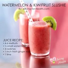 This Watermelonn & Kiwifruit Slushie Promotes a Healthy Digestive System and Boosts Your Immunity.