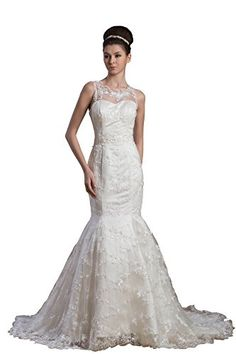 Vogue007 Womens Straps Satin Pongee Wedding Dress with Embroidery and Lace, ColorCards, 22W Vogue007 http://www.amazon.com/dp/B00MRTC7YY/ref=cm_sw_r_pi_dp_PCK-tb17ZE70J