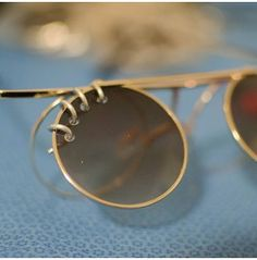 Pierced sunglasses - because nothing is safe from the needle...
