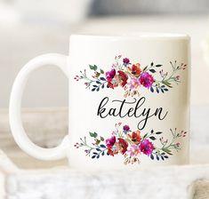 personnalisé Lot coffret personnalisé bold rose fine bone china mug cadeau pour elle