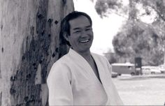 This is an late 80's photo of T.K. Chiba, Sensei.  While it is true that he is a very dedicated and serious martial artist, he also knew when to smile.