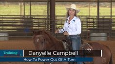 Danyelle Campbell demonstrates how to power out of a barrel turn. Barrel Racing Exercises, Barrel Racing Tips, Horse Exercises, Barrel Racing Horses, Barrel Horse, Training Exercises, Horse Training Tips, Horse Tips, Training Videos
