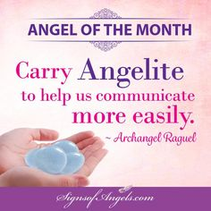 Angelite is the stone of Archangel Raguel. Carry it with you to increase your Angelic Connection.  Order yours here bit.ly/Angelite  Receive Daily Inspirational Emails => http://bit.ly/1jz84Us