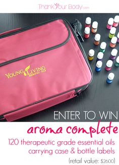 Enter to win an Aroma Complete! Holy cow! 120 of the best essential oils, carrying case... and check out the 2nd and 3rd prize, too. So awesome!
