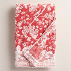 coral color towels