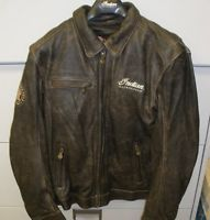 Men's Indian Motorcycle Classic Jacket 2 / Brown Leather Jacket NWT