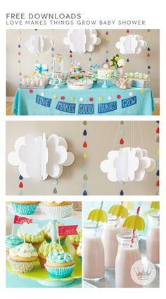 Idea para decorar un baby shower.