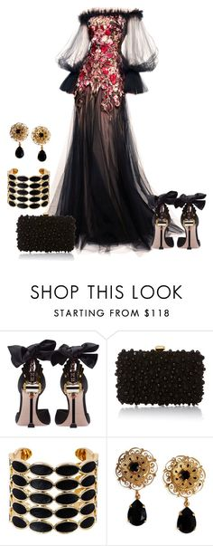 """""""dress"""" by kim-coffey-harlow ❤ liked on Polyvore featuring Alexander McQueen, Miu Miu, Elie Saab, House of Harlow 1960 and Dolce&Gabbana"""