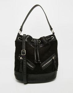 Image 1 ofNew Look Shearling Duffle Bag
