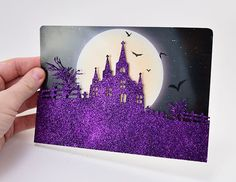 Glittered 3D Halloween Cards | Create your own 3D Halloween cards using these simple steps.