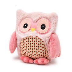Lämmitettävä pöllöpehmolelu, väri pinkki 18,90€