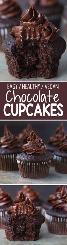 The BEST Vegan Chocolate Cupcakes, no crazy ingredients!