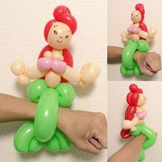 Ariel bracelet from Little Mermaid #balloonart #バルーンアート