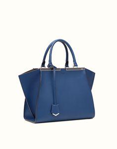 FENDI | 3JOURS blue leather tote bag