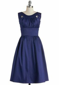 2014 Beautiful lady Jewel Blue wedding Bridesmaid and Princess style Mid-calf dress free shipping $125.00