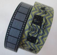 Washi Tape  2 Rolls  Vintage Inspired Film Reel by HazalsBazaar, $5.00