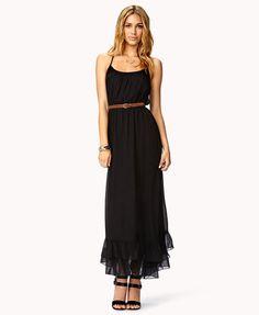 Flounced Racerback Dress w/ Belt | FOREVER21 - 2011408377