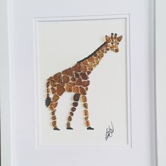 Number one of 3 giraffes... they all look similar but none are identical. Its just not possible to duplicate these special pieces #seaglasscreations #giraffe #eachpieceisunique #no2piecesarealike