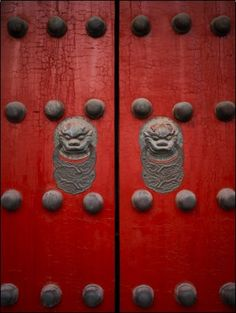 "The Giant Red Doors to the Forbidden City in Beijing - my heart literally stopped as I ""touched"" history and passed through these doors!"