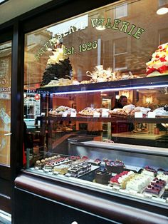 We work next door to Patisserie Valerie and would love to make a montage of everyone's faces gawping at the cakes!
