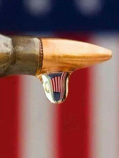 These two things. Bullets and our flag, have been fused together over time.