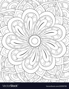 Adult coloring bookpage a cute abstract vector image on VectorStock Spring Coloring Pages, Mandala Coloring Pages, Colouring Pages, Coloring Books, Art And Illustration, Pattern Illustrations, Plakat Design, Color Me Beautiful, Abstract Backgrounds