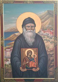 Porphyrios of Kapsokalyvia Religious Icons, Religious Art, Byzantine Icons, Orthodox Christianity, Orthodox Icons, Dear God, Christian Life, Holy Spirit, Saints