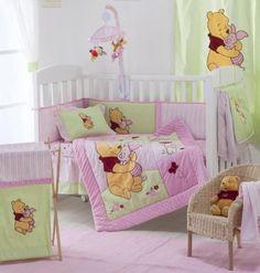 Amazon.com: Pink Winnie the Pooh Crib Bedding Collection 4 Pc Crib Bedding Set: Baby