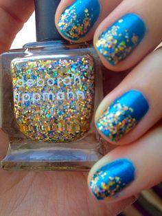 Nail inspiration: Glitter and be Happy by katykitchen. #Sephoranailspotting #nails #nailpolish #Sephora