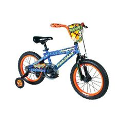 Dynacraft Boy's Magna Rattle Snake Bike (Blue/Orange, 16-Inch) by Dynacraft. $96.33. Deluxe Paint Finish. Coaster Brake and Front Hand Brake. Handlebar Pad. Handlebar Shield. Training Wheels. 16-Inch Boys Rattle Snake Bike / Magna