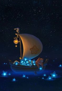Be Happy ! My site is only for adults from ! Disney Wallpaper, Wallpaper Backgrounds, Night Illustration, Cute Cartoon Wallpapers, Anime Scenery, Moon Art, Anime Art Girl, Belle Photo, Cartoon Art