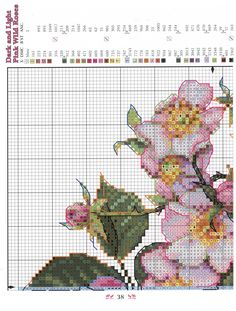 Needle-Works Butterfly: Wonderful Cross Stitch Pillows ''cushions'' Light/Dark Pink Wild Roses, page 1 Butterfly Cross Stitch, Cross Stitch Rose, Cross Stitch Flowers, Cross Stitch Pillow, Cross Stitch Charts, Cross Stitch Patterns, Cross Stitching, Cross Stitch Embroidery, Flower Pillow