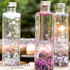 Magic bottles - centerpiece