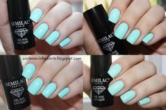 @nailmaniabydaria #semilac #diamondcosmetics #nails #mint #manicure